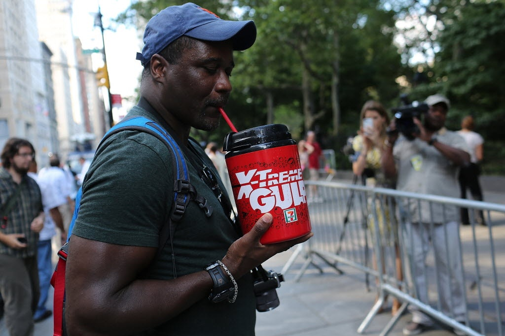 A Big Gulp.Use it for what it was made for, man: big gulping.