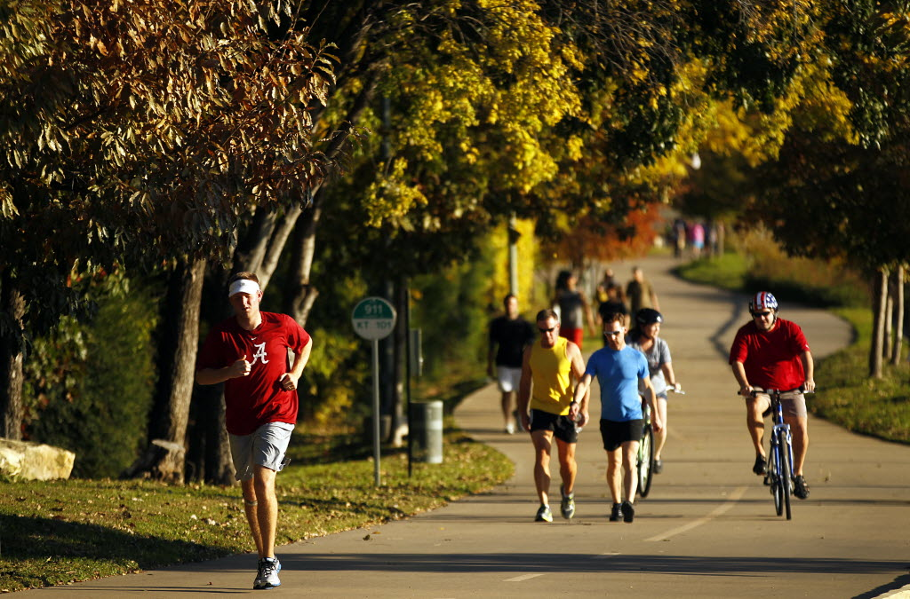 Image result for Bust a sweat on the katy trail in dallas