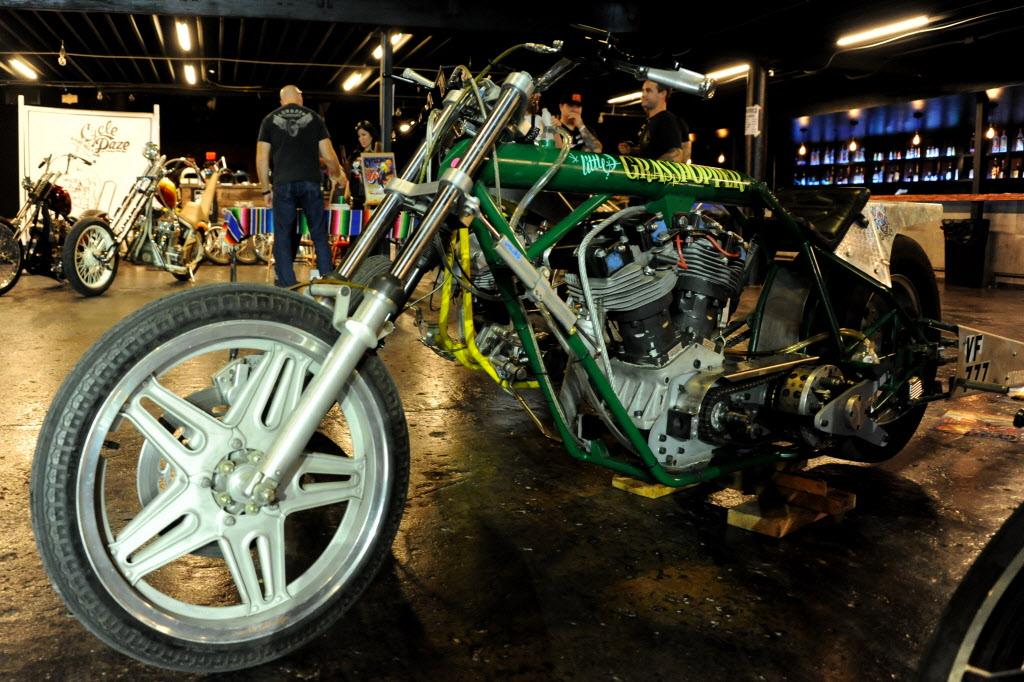 Photos: Vintage motorcycles cruise through the Bomb Factory