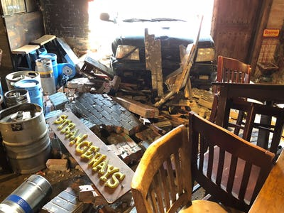 Dallas bar Strangeways is back open after a car crashed