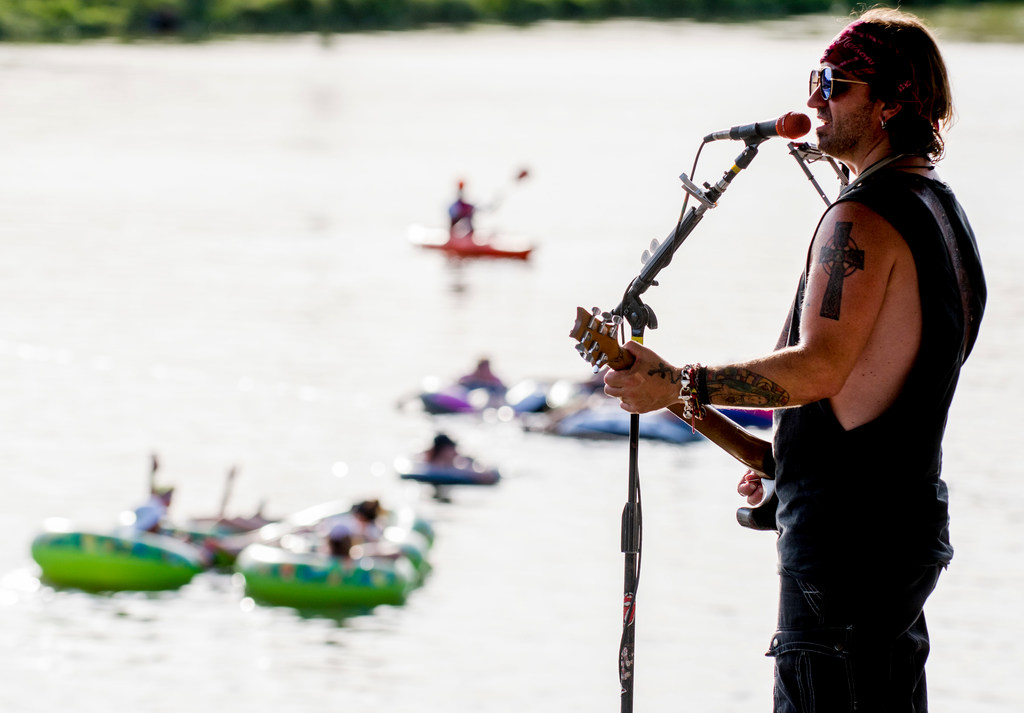 Is Rockin' the River -- a summertime float in Fort Worth